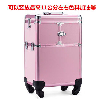 Large beauty case trolley professional makeup pattern embroidery tool box multi-layer large capacity nail box Korea