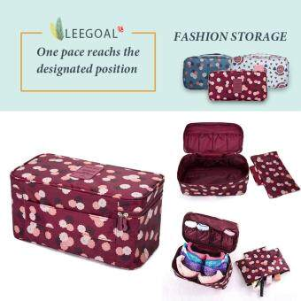 Leegoal Fashion Portable Multi Functional Travel Organizer Storage Bag Panties Bra Storage Box Cosmetic Make-up Bag