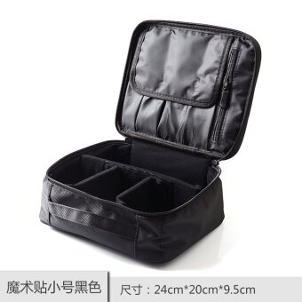 Lexni makeup box large professional pattern embroidered bag portable large capacity multi-layer makeup storage box can be set to trolley