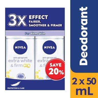 Nivea Q10 Extra Whitening Female Roll-On Twinpack @ 20% off 2 x50ml