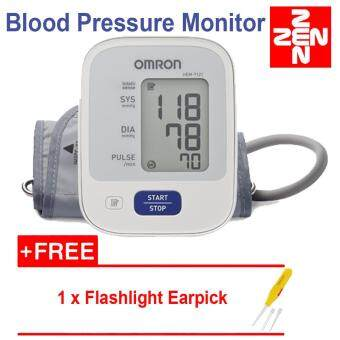 Omron HEM 7121 Blood Pressure Monitor(5 years warranty)FREE Flashlight Earpick