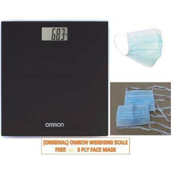 (Original) Omron Digital Body Weighing Weight Scale HN289 Black Warranty 1 Year FREE 10'S FACE MASK