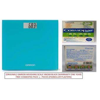 (Original) Omron Digital Body Weighing Weight Scale HN289 (WARRANTY 1 YEAR) Ocean Blue FREE 10 PIECES COSMOPAS (PAINKILLER PLASTERS)
