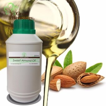 Pure Sweet Almond Oil, Cold Pressed, Natural Carrier Oil 500ml