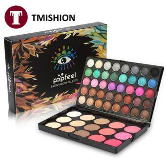 TMISHION 40Colors Eyeshadow in Makeup+ 15Colors Blusher &Concealer Palette Facial Eye Kit