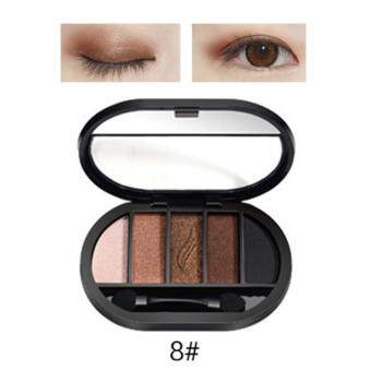 Travel Easy Matte Eye Shadow Makeup 5 Color Glitter WaterproofNatural Eyeshadow Palette Shimmer Easy to Wear Make up