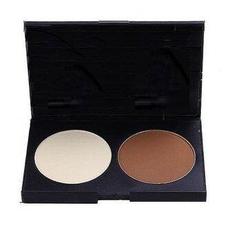Two Colour Highlighter and Concealer Bronzer Contour Powder Palette