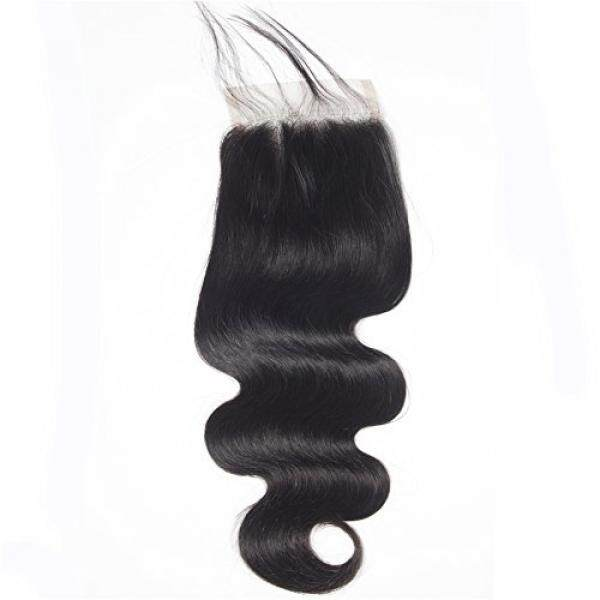 Ugrace Hair Body Wave Closure Mink Brazilian Virgin Hair Pre Plucked Closure with Baby Hair Soft and Bouncy Crochet Closure Natural Color Can Be Dyed and Bleached 8 Inch Free Part 4x4 Lace Closure - intl