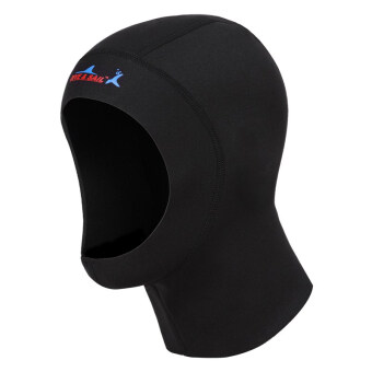1mm Diving cap Neoprene Snorkeling Scuba Diving Hat Diving Hood Diver Cap (Black)-M