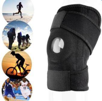 2pcs Adjustable Sports Training Elastic Knee Support Brace Kneepad Adjustable Patella Knee Pads Hole Kneepad Safety Guard Strap