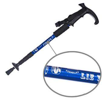 360DSC 4-Section Retractable Folding Anti-Shock Aluminium Alloy T Type Sport Hiking Camping Climbing Trekking Sticks Walking Stick Pole Crutches Cane Alpenstocks - Blue