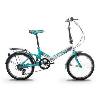 ASOGO A1720621-BC 20 Inch Foldable Bicycle Folding Bike with 6Speed Gear System