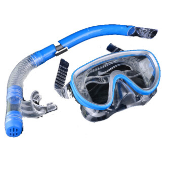 Cyber The Swimming Pool Diving Equipment Anti Fog Goggles ScubaMask Snorkel Glasses ( Blue )
