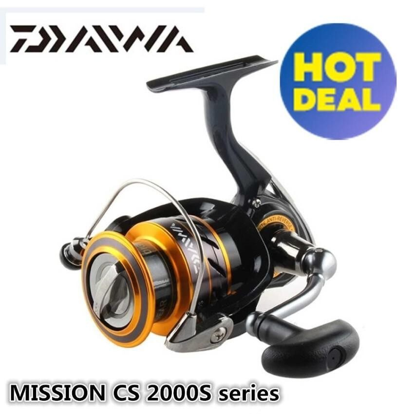DAIWA MISSION CS S 100% Original Spinning Fishing Reel 2000S 2500S 4000S 3+1Ball