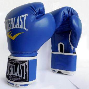 EVERLAST Professional Boxing Muay Thai Training Gloves 12oz (Blue)