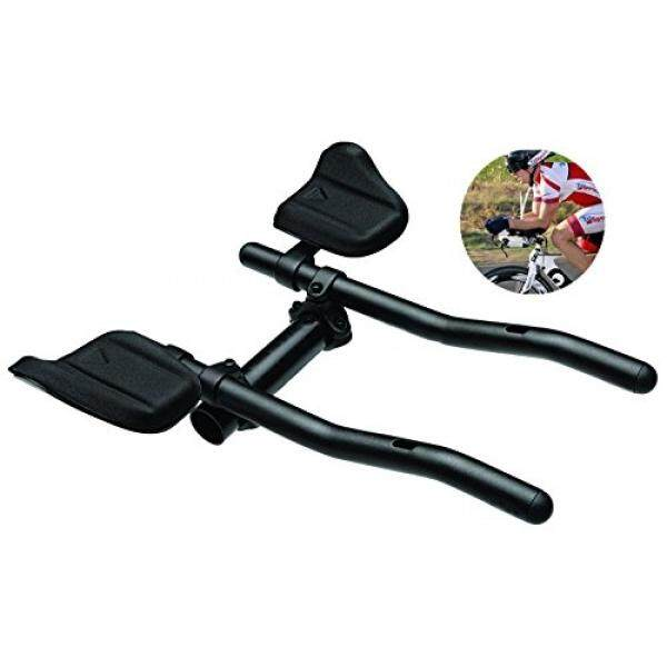 Ekstensi Hitam T-6061 Alloy Triathlon Aerodinamis Posisi Setang Sepeda untuk Sepeda Sepeda Jalan Bersepeda Sepeda MTB Warna Hitam- INTL