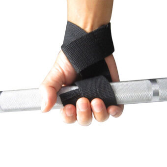 For Weight Lifting Training Gym Wrist Support Straps Wrap GlovesHand Bar Black
