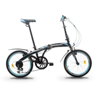 GARION G2019-BC 20 Inch Foldable Bike Folding Bicycle with Shimano 6 Speed Gear System (Matte Light Blue)