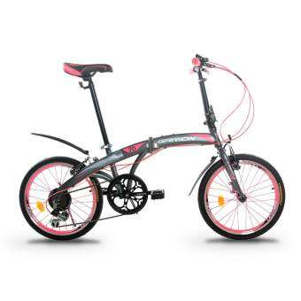 GARION G2019-BC 20 Inch Foldable Bike Folding Bicycle with Shimano 6 Speed Gear System (Matte Pink)