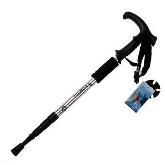 Hiking Walking Trekking Poles Ultralight Adjustable Canes Silver