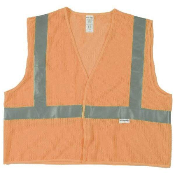 Jackson Safety ANSI Class 2 Standard Style Mesh Polyester Safety Vest with Silver Reflective - intl