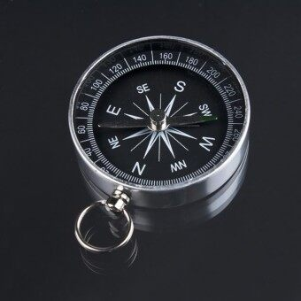 Key Ring Portable Compass Aluminum Alloy Metal Pocket Compass