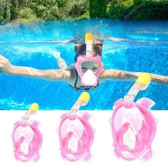 Kids Full Face Snorkeling Snorkel Mask Diving Goggles With BreatherPipe For GoPro XS