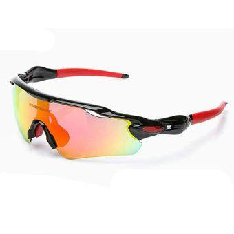 Men's Cycling Glasses Sports Sunglasses UV 400 Polarized 5 LensEyewear (White)