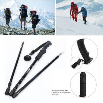 New Durable Adjustable Anti-Shock Hiking Trekking Walking Pole Stick + Compass (Random Colour)