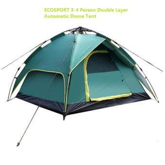 New EcoSport 3-4 Person Double Layer Automatic Dome Tent