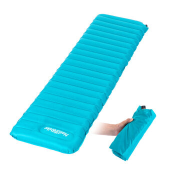 NH Naturehike Ultralight Manual Inflatable Hand Press Inflating Dampproof Sleeping Pad Portable Tent Air Mat Mattress Outdoor Camping