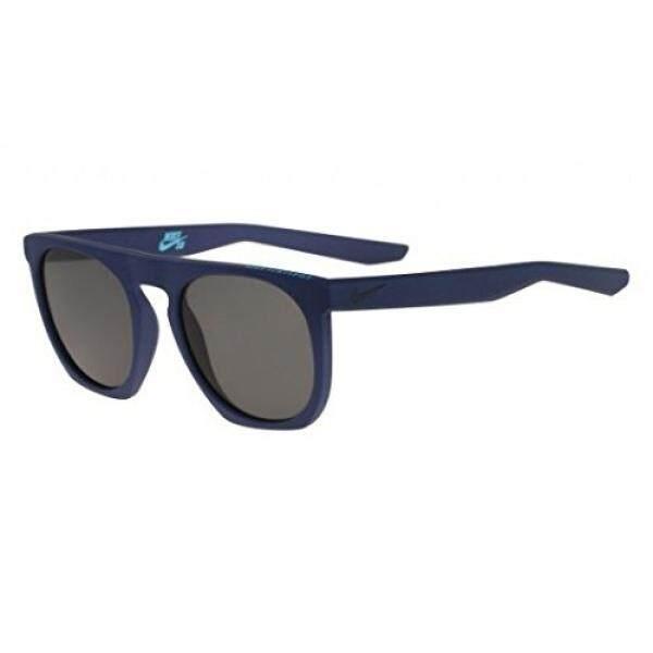 Nike Golf Flatspot Kacamata Hitam, Warna Tidak Mengkilap Skuadron Biru/Tide Pool Bingkai Biru, Grey Lensa-Internasional