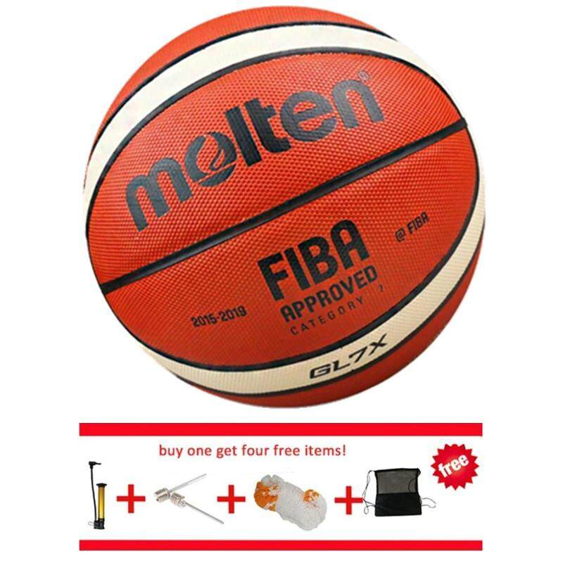 The cheapest price official basketball bola basket molten basketball official basketball bola basket molten basketball gl7x size7 pu leather free with net bag pin and thecheapjerseys Images