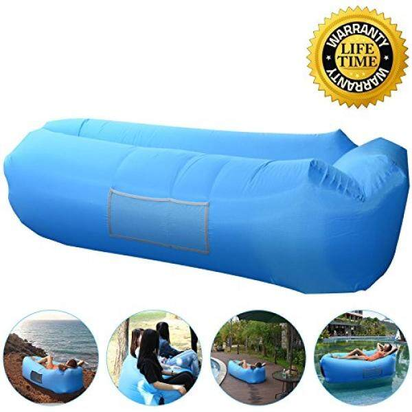 Outdoor Inflatable Lounger Couch, Air Sofa Blow Up Lounge Chair with Carrying Bag for Travelling, Camping, Hiking, Park, Pool and Beach Parties - intl