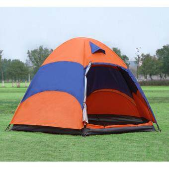 Outdoor tent factory direct 5-8 multi-person double rain campingcamping hexagonal leisure beach tents