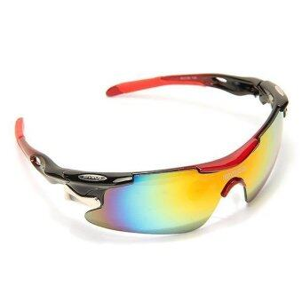 polarized spectacles  Polarized Sunglasses UV 400 with 5 Lens (Red)
