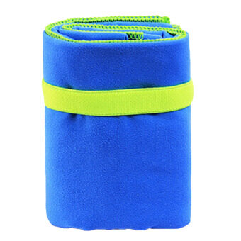 Portable Microfiber Sports Fast Drying Towel Quickly DryAntibacterial Towel for Outdoor Travel Hiking Camping RunningSwimming Yoga Gym Blue