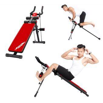 SellinCost 9in1 Foldable Power Plank with Sit Up Multi Functional Ab Abdominal Trainer Crunch Adjustable Height Bench Six 6 Packs Gym 200KG Durable Weight