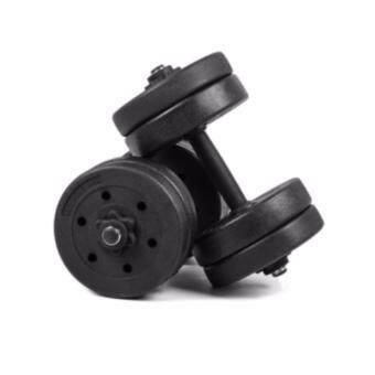 SellinCost Top Grade Bumper Plate Rubber Dumbbell 15kg /pair Barbell