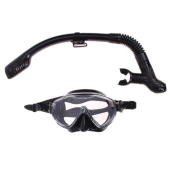 Silicone Diving Mask Anti-Fog Goggles Glasses + Snorkel BreathingTube Set