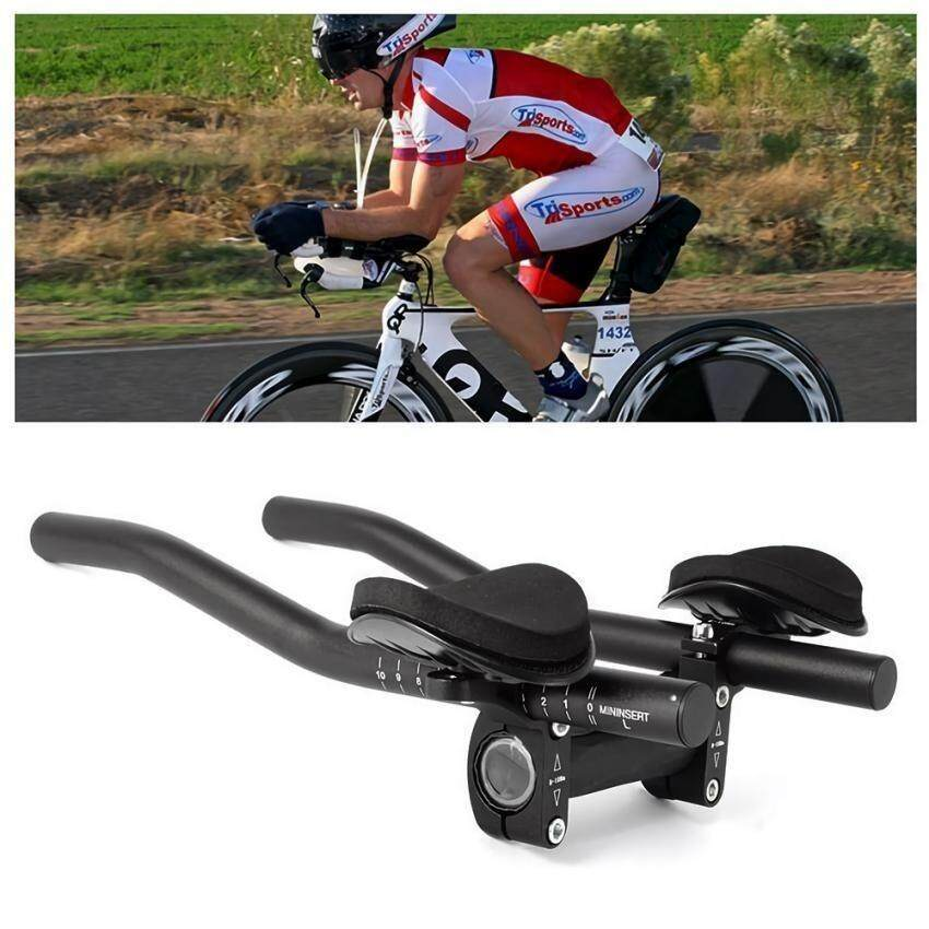 Stable Aluminum Alloy Bike Rest Handlebar with Sponge Cushion for Triathlon Road Bicycle - intl