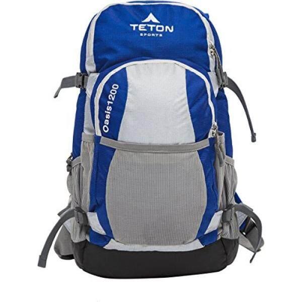 Teton Olahraga Oasis 1200 ITER Hydration Ransel Sempurna untuk Bermain Ski, Berlari, Bersepeda, Bersepeda, Daki Gunung, pendakian, dan Berburu; Air Bladder Disertakan; Sarung Hujan Gratis Termasuk; Biru/Grey-Internasional