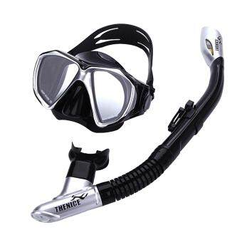 Thenice snorkeling Set Adult (Black) for Scuba Diving