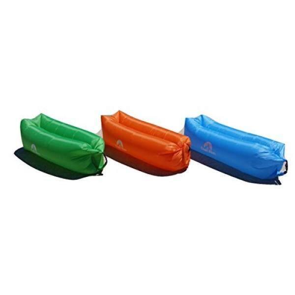 Trail Rim Inflatable Air Sofa Lounger dengan Carry Bag, Nilon Tahan Lama Tahan Lama, Bagus untuk Traveling, Camping, Hiking, Kolam Renang dan Pantai. Termasuk Saku Samping untuk Smartphone dan Tablet. (Biru)-Intl