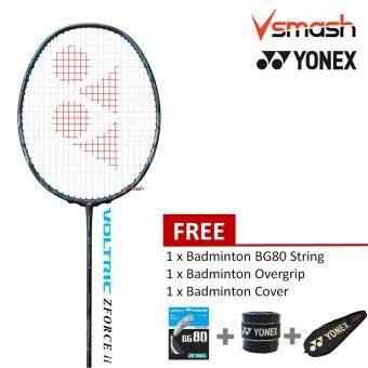 Yonex Voltric Zforce ii (4U) Black Badminton Racket Package