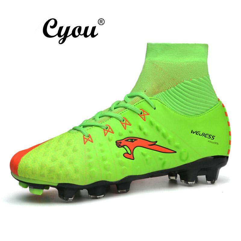 ca9c465c4 2017 New Arrivals New York Mens Football Boots   Soccer Shoes Sneakers High  Top Futsal Shoes Kasut ...