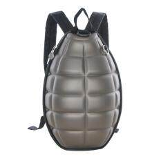 360DSC Creative Grenade Bomb Turtle Shell Design Stylish Backpack Cool School Bag - Brown