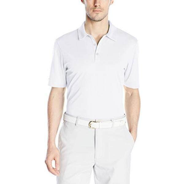 Adidas Golf Pria CLIMACHILL Polos Club Polo Kaus, Putih,-Internasional