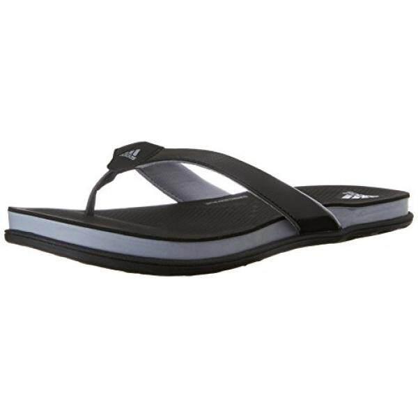 adidas Performance Womens Supercloud Plus Thong W Athletic Sandal,Black/Mid Grey/Silver, US - intl
