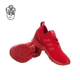 Adidas ZX Flux Primeknit Running Shoes (Red / Red-Red) s81974